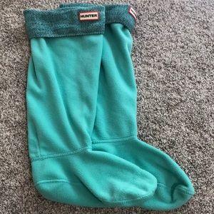 Hunter original tall fleece welly boot sock large